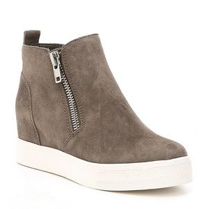 Steve Madden Wedgie Zip-Up Sneaker